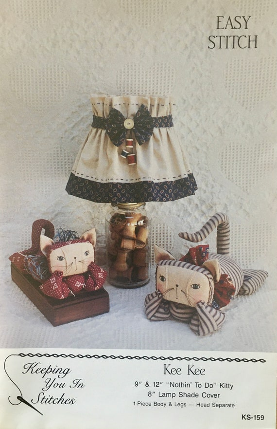 Cat Doll and Lamp Shade Cover Pattern, Kee Kee, Keeping you in stitches