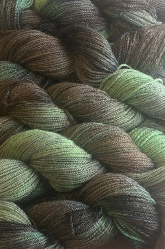 PEPPERMINT PATTY Alpaca Yarn Indie Hand Painted Baby Alpaca Soft and Unique