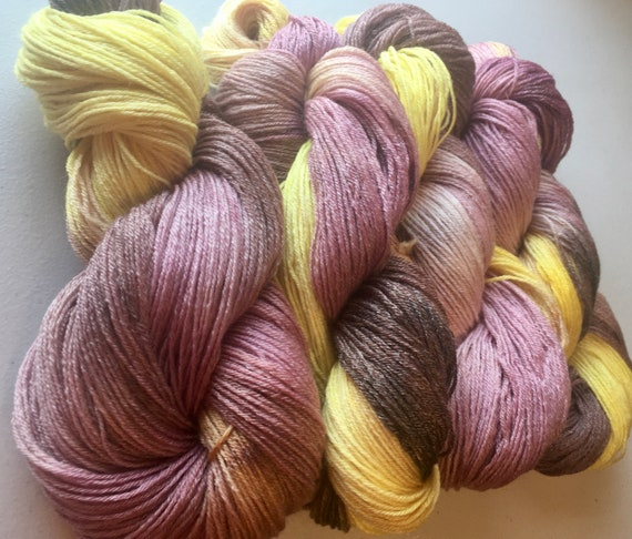 NEAPOLITAN Wool/Tencel Sock Yarn Indie Hand Painted Soft and Unique