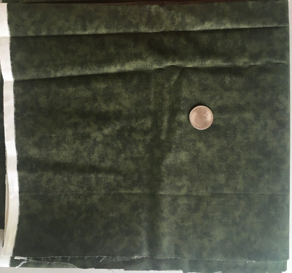 """Olive Green, Elegant & Gorgeous,  Cotton Fabric 44"""" Wide x 1 yard: 2 yards available"""