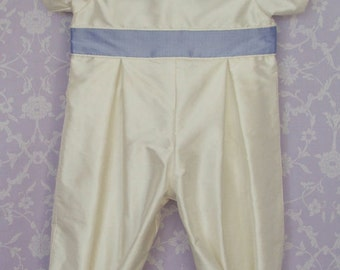 Boys Silk Christening outfit, Charles by Okika