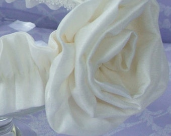 Silk Rose Christening Head band by Okika made in England