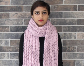 Baby Pink Chunky Scarf