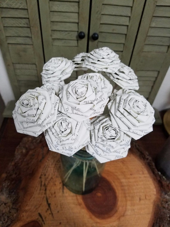Varying Quantity Book Page Paper Roses 3 Harry Potter Book Roses Paperback Book