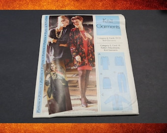 Sewing Pattern - Sewing Step-by-Step Knit Garments.  Sizes 4-22. #PAT-001