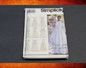 Sewing Pattern - Simplicity Pattern 8888 Women Wedding Dress or Prom Gown.   Size 10-14. #PAT-056
