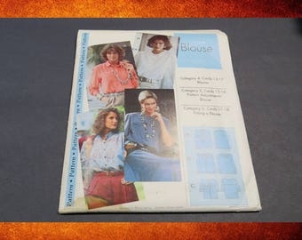 Sewing Step-by-Step Blouse Pattern. Sizes 4-22. #PAT-002