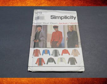Sewing Pattern - Simplicity Woman's Jacket 9219 Pattern. Sizes 12-14-16. #PAT-015