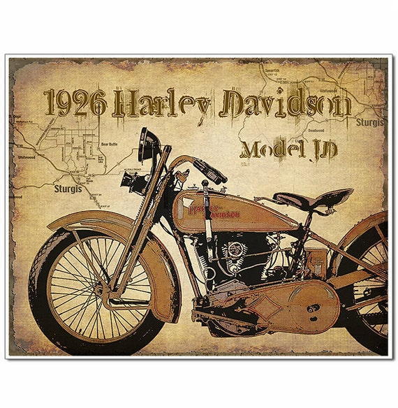 harley davidson affiche cadeau de moto moto tirages dart etsy. Black Bedroom Furniture Sets. Home Design Ideas