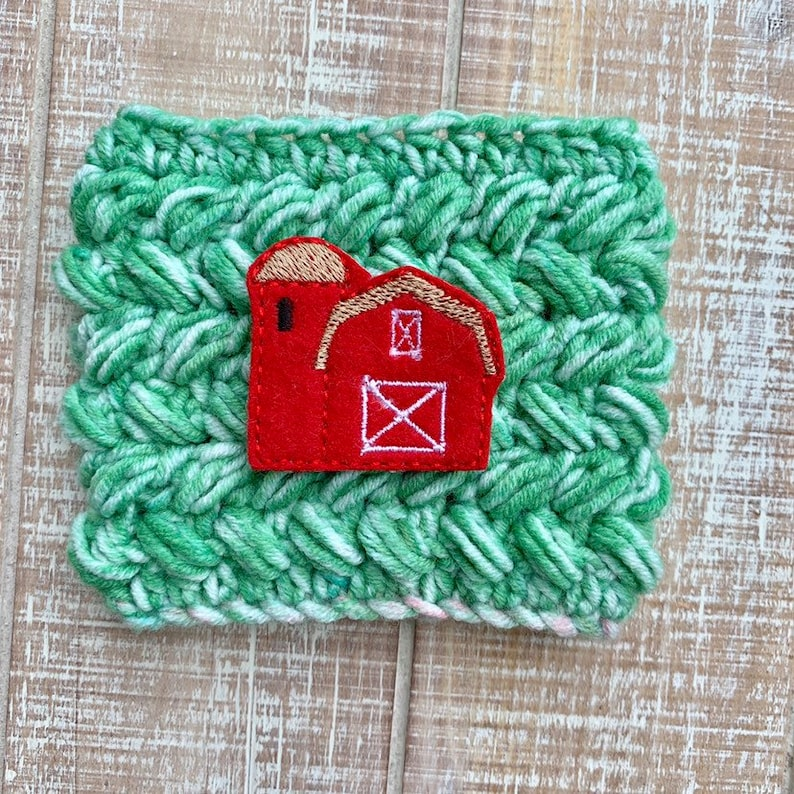 Barn cup cozie cup cozy coffee sleeve gifts for her cute image 0