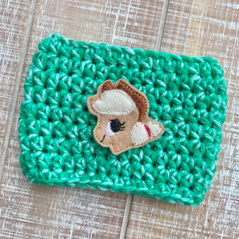 Pony cup cozie cup cozy coffee sleeve gifts for her cute image 0
