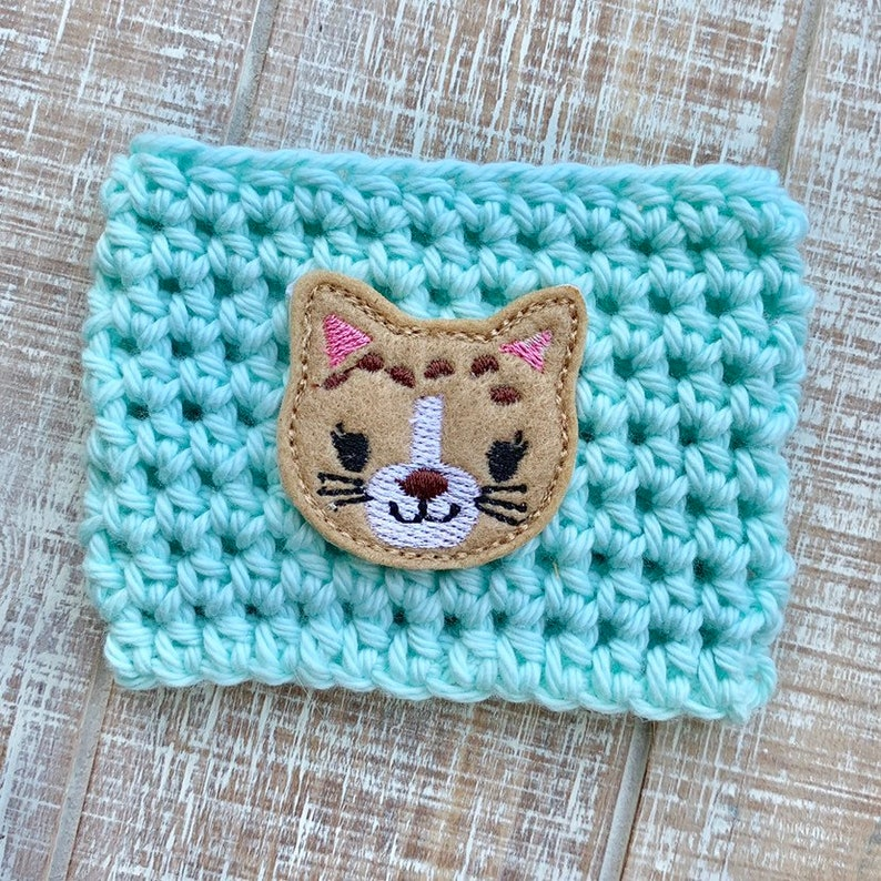 Kitty cup cozie cup cozy coffee sleeve gifts for her cute image 0
