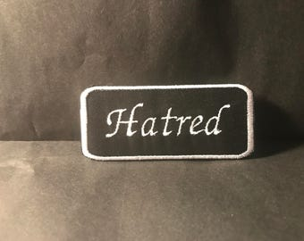 Hatred sew-on patch - Inspired by Sergeant Hatred of Venture Bros.  Cosplay