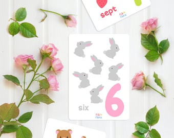 French Numbers 1-10 Flashcards