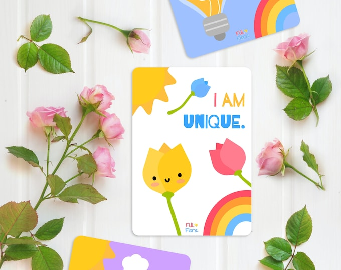 Featured listing image: Positive Affirmation Flashcards for Children, Mindfulness & Wellbeing Flashcards
