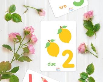 Italian Numbers 1-10 Flashcards