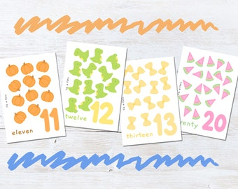 Counting Flashcards Numbers 11-20 for Children, Educational Gift