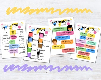 Italian Language Flashcards, Educational Gift