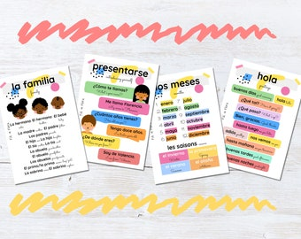 Spanish Language Flashcards for Children, Educational Gift