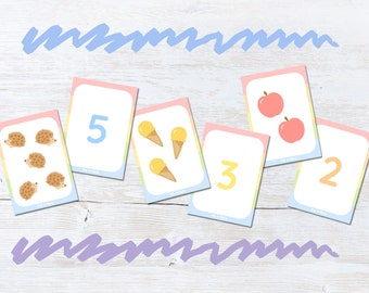 Counting 1-10 Flashcards Game, Snap And Memory Game for Children, Educational Gift