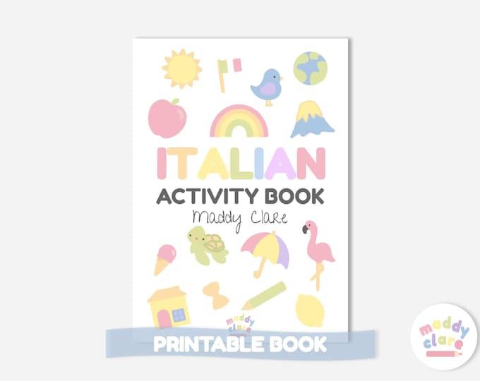 Italian Learning Activity Book for Children