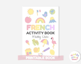 French Learning Activity Book for Children