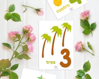 Spanish Counting 1-10 Flashcards