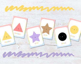 Shapes Flashcards Game, Snap And Memory Game for Children, Educational Gift