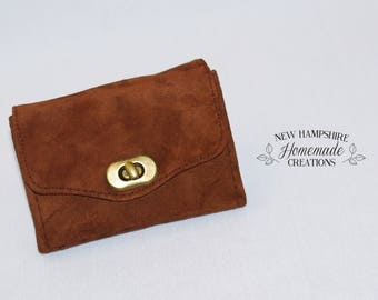 The Mini Necessary Clutch Wallet - NCW - Dk Brown Leather