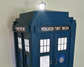 TARDIS Inspired Table Lamp