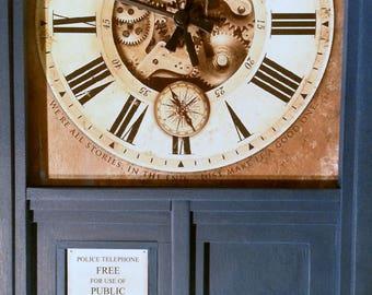 TARDIS Inspired Wall Clock
