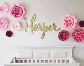 Baby Nursery Name Sign