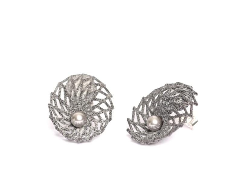 3d earrings with pearl large earrings women geometric jewelry