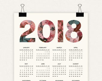2018 Printable Wall Calendar (16x20)