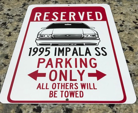 1995 95 CHEVY CAPRICE CLASSIC Parking Sign
