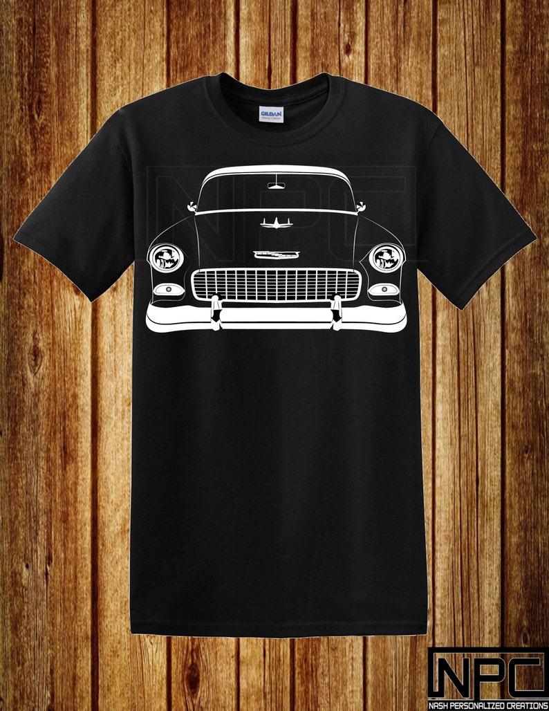 Chevy T Shirts >> 55 Chevy T Shirt Bel Air Hardtop Sedan 210 Nomad
