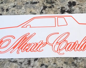 81-85 Monte Carlo Outline Decal