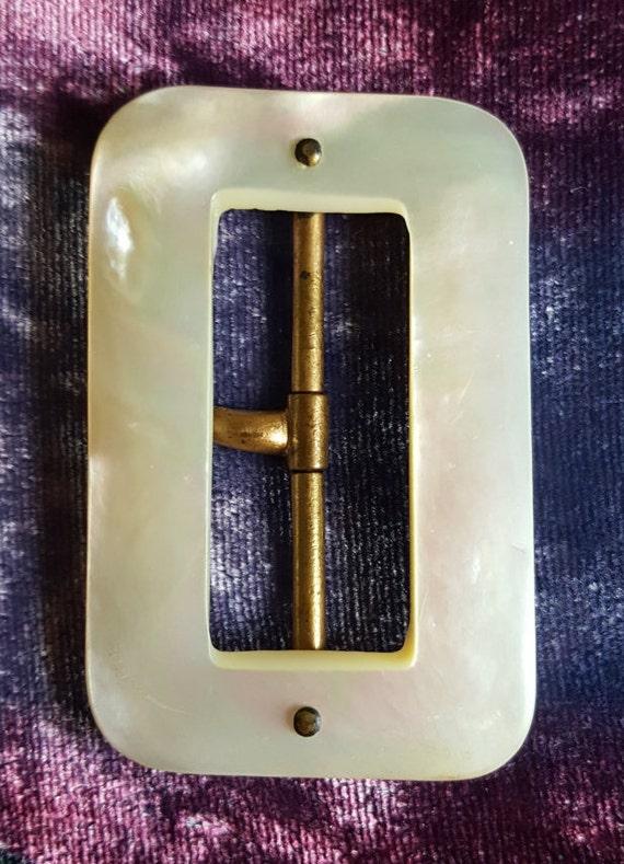 Vintage MOP 1930's Belt Buckle
