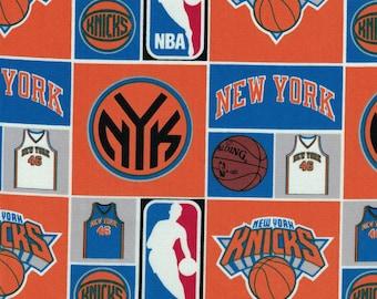 51efdc05b New York Knicks Basketball Fabric - NBA - 100% Cotton by Camelot Fabrics