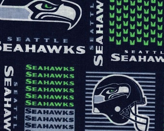 Seattle Seahawks Football Fabric- NFL - 100% Cotton - by Fabric Traditions b289f6f15