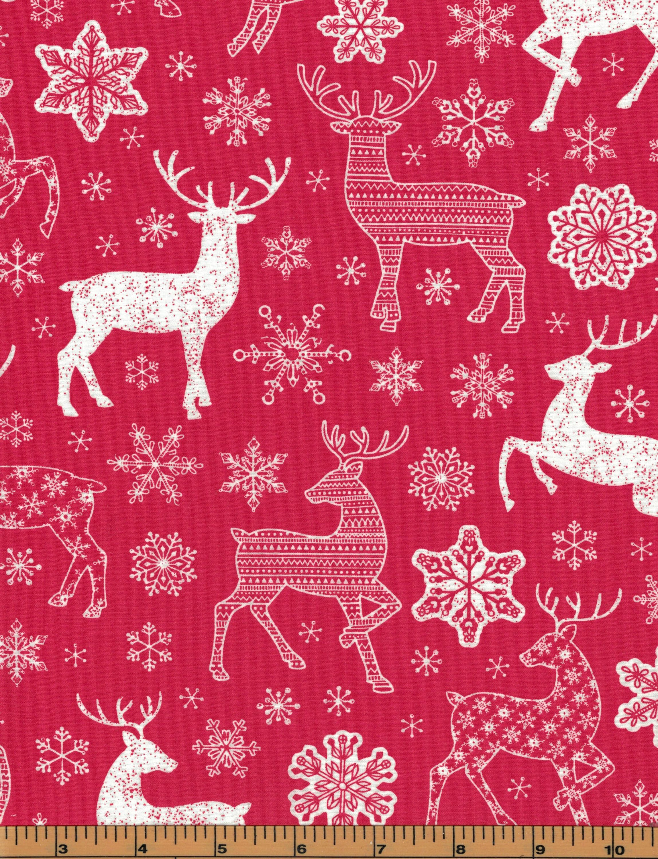 end of bolt Rustic Christmas Fabric  10