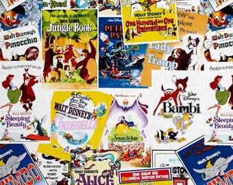 Vintage Disney Fabric- Greatest Love Story Movie Poster Fabric- Springs Creative- 100% Cotton Fabric