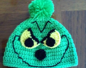 873722a0a05 Grinch inspired crochet hat