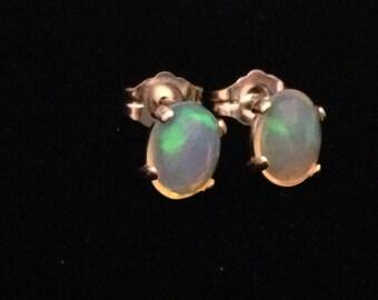 Amazing flash of color Welo Opal Earrings