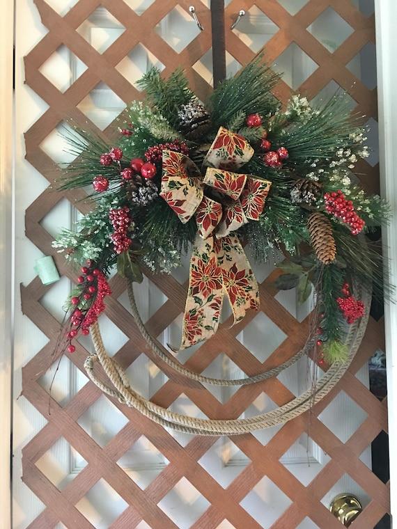 Cowboy Christmas Lasso Wreath Lariat Country