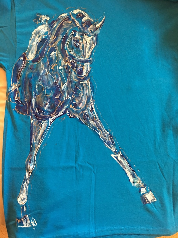 Dressage Mirror Horse Lovers Horse and Rider T-Shirt Multiple Colors /& Sizes
