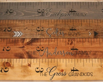 Wooden Growth Chart, Growth Ruler, Hand Painted
