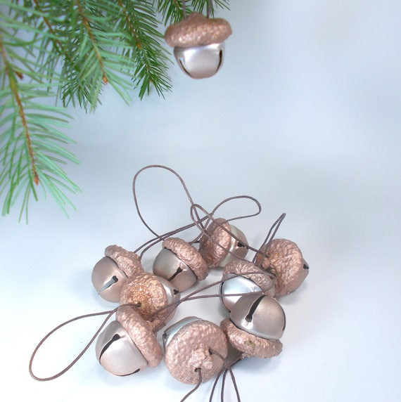 Free Shipping Large Acorn Winter Decoration with Glitter Accents