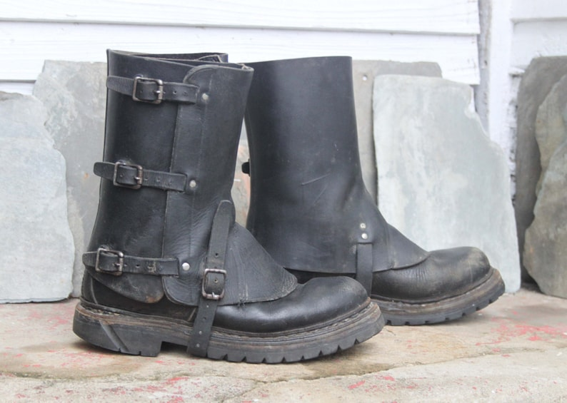 Vintage 1950's-80's Swiss Military Gaiters Spats
