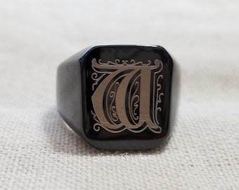 bf17989690ecc Mens signet rings | Etsy